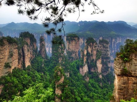 Landskap i Zhangjiajie